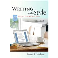 Custom Enrichment Module: Writing with Style APA Style Made Easy by Szuchman, Lenore T., 9780495099727