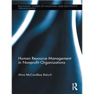 Human Resource Management in Nonprofit Organizations by McCandless Baluch; Alina, 9781138959743