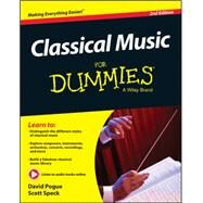Classical Music for Dummies by Pogue, David; Speck, Scott, 9781119049753