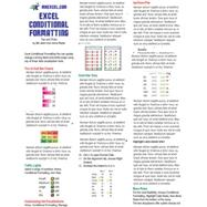 Excel Conditional Formatting Tip Card by Walsh, Anne, 9781615479795