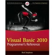 Visual Basic 2010 Programmer's Reference by Stephens, Rod, 9780470499832