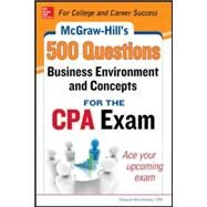 McGraw-Hill Education 500 Business Environment and Concepts Questions for the CPA Exam by Stefano, Denise M.; Surett, Darrel, 9780071789844