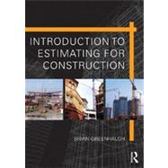 Introduction to Estimating for Construction by Greenhalgh; Brian, 9780415509862
