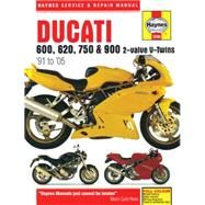 Haynes Ducati 600, 620, 750 & 900 2-valve V-twins '91 to '05 Service and Repair Manual by Cox, Penny; Coombs, Matthew, 9780857339867