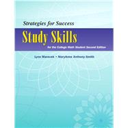 Strategies For Success Study Skills for the College Math Student by Marecek, Lynn; Anthony-Smith, MaryAnne, 9780321969880