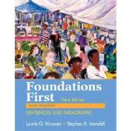 Foundations First with Readings : Sentences and Paragraphs