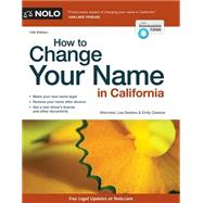 How to Change Your Name in California by Sedano, Lisa; Doskow, Emily, 9781413319897