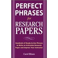 McGraw-Hill's Concise Guide to Writing Research Papers by Ellison, Carol, 9780071629898