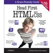Head First HTML and CSS by Robson, Elisabeth; Freeman, Eric, 9780596159900