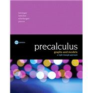 Precalculus Graphs and Models, A Right Triangle Approach Plus MyMathLab with Pearson eText -- Access Card Package by Bittinger, Marvin L; Beecher, Judith A.; Ellenbogen, David J.; Penna, Judith A., 9780134379951