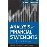Analysis of Financial Statements by Peterson Drake, Pamela; Fabozzi, Frank J., 9781118299982